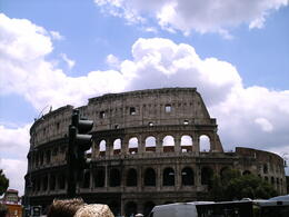 Colosseum outside, waiting for the guided tour to start. , Kate A - June 2012