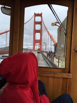 Photo of San Francisco Viator VIP: Early Access to Alcatraz and Exclusive Cable Car Sightseeing Tour Driving over the Golden Gate bridge