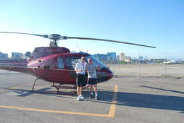 Ready to fly over the Grand Canyon! Me with the pilot , peter - September 2011
