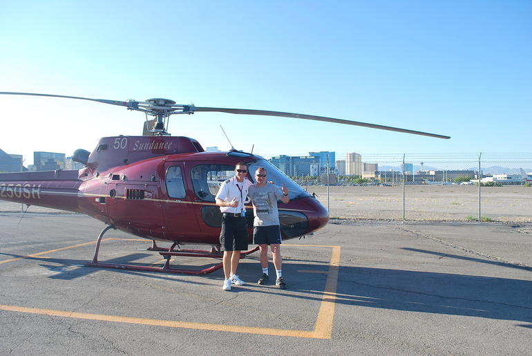 Ready to fly over the Grand Canyon! - Las Vegas