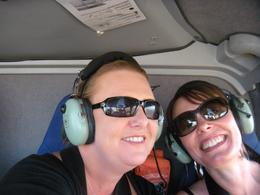 My friend and I in the helicopter, JennyC - November 2010