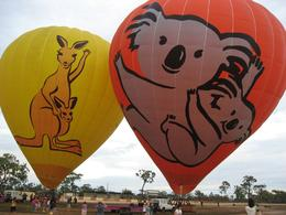 Just finished blowing up the Hot Air Balloon and we are waiting to go up there soon., Edmond Leung - January 2009