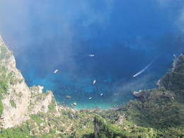 Photo of Rome 2-Day Italy Trip: Naples, Pompeii, Sorrento and Capri Looking down from chair lift in Anacapri