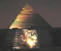 Pyramids Sound and Light Show., Thomas G - March 2008