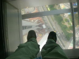 You can walk along the glass floor if you like. , Peter S - November 2013