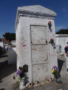 Tomb of Voodoo Queen Marie Laveau at St. Louis Cemetary No. 1 , taylorep74 - July 2014