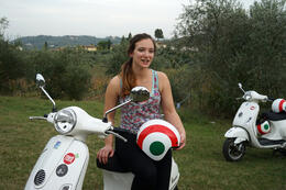 Jo on her Vespa , Richard H - October 2014