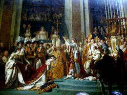 Napoleon is on the throne with the Pope standing beside him., Thomas W - June 2010