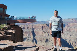 this is me at eagle point with the skywalk in the background , peter - September 2011