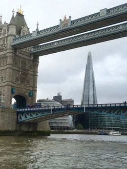 London Hop on hop off river cruise - a grey day but some wonderful sights. Interesting to learn the river rises and drops up to 5 metres with the tide. , Judith A C - June 2016