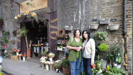 "Standing in front of the real ""Leaky Cauldron"", Travel Mom - July 2011"