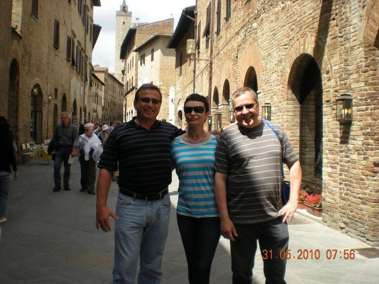 In San Gimignano street - Florence