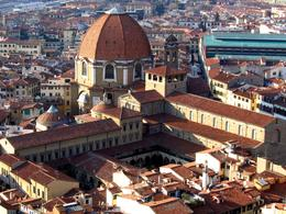 The dome of the Cappella dei Principi dominates the San Lorenzo architectural complex - May 2011