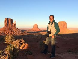 Shot at the camping site at Monument Valley during Sunset , PG - May 2015