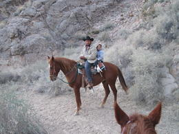 Photo of Las Vegas Wild West Sunset Horseback Ride with Dinner Posing!