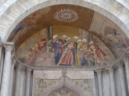 Photo of Venice Skip the Line: Venice Walking Tour with St Mark's Basilica some of the murals outside the Church