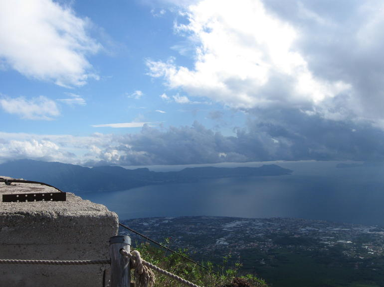 View from top Mt Vesuvius - Naples