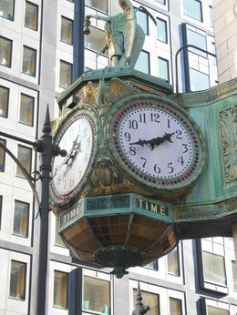 Famous clock outside Macy's , Patricia J G - November 2012