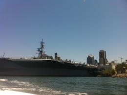Photo of San Diego San Diego Harbor Speed Boat Adventure Cruising past the USS Midway