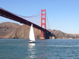 We were getting close to the bridge and caught a sail boat at the right time! , Melissa H - November 2013