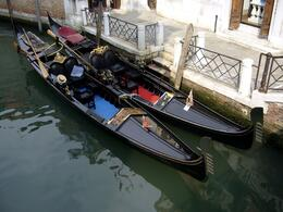 Photo of Venice Skip the Line: Venice in One Day Including Boat Tour Gondola waiting for customers