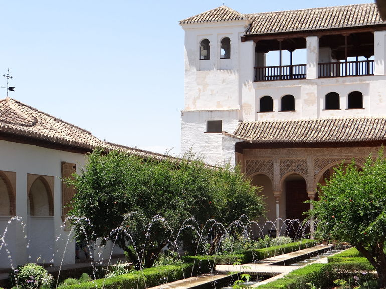 Inside the Generalife Gardens