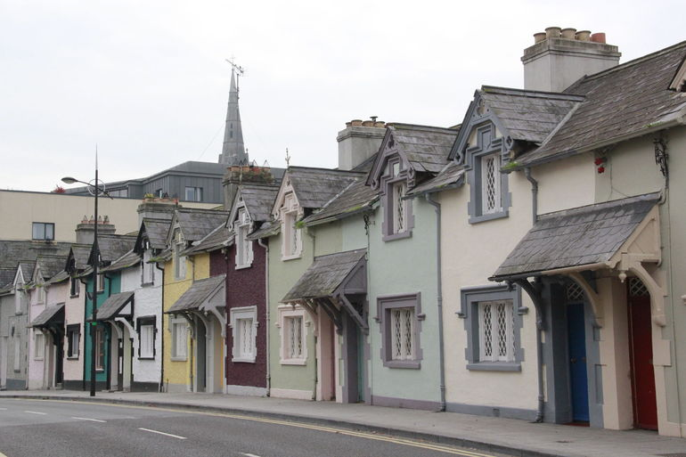 Irish cottages in the city of Trim
