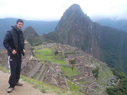 Me standing on the edge of one of the terraces at Machu Picchu , Ethan M - October 2013