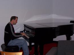 Photo of Sydney Sydney Opera House Guided Backstage Tour Playing the piano at the Sydney Opera House