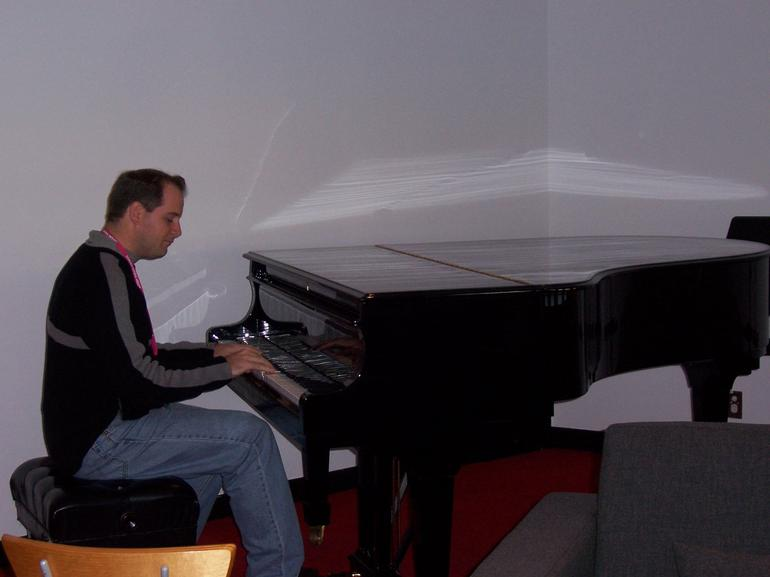 Playing the piano at the Sydney Opera House - Sydney