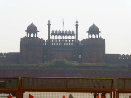Red Fort as seen through the car window through traffic! , Mark D - May 2016