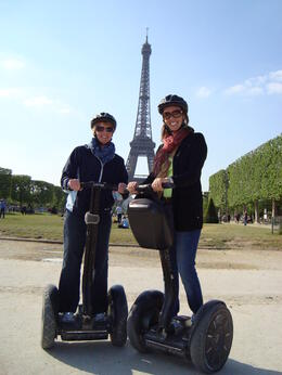 Heather and Adrienne having a blast in Paris on our Segway Tour! , Heather T - May 2011
