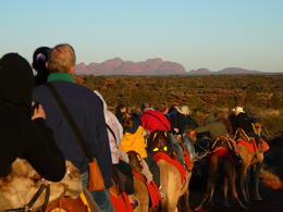 Photo of Ayers Rock Uluru Camel Express, Sunrise or Sunset Tours The Olgas at sunrise from atop a camel