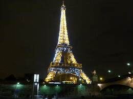 Photo of Paris Eiffel Tower Dinner and Seine River Cruise The tower at night