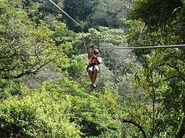 Zipping like a pro in Costa Rica! Sarapiqui Rainforest, Yasmin S - November 2009