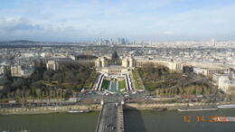 View from the Eiffel Tower , Raquel - December 2012