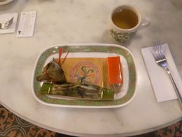 The sample food tasting (this is all the food you get) , John K. - February 2015