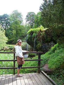 on the grounds of Blarney Castle there are a couple pretty waterfalls along a path of wooden decking. , Susan G - May 2011