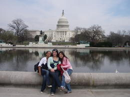 Capitol Hill with my friends, Cat - January 2012