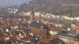 Church of the Holy Spirit as seen from Heidelberg Castle. , sg - March 2015