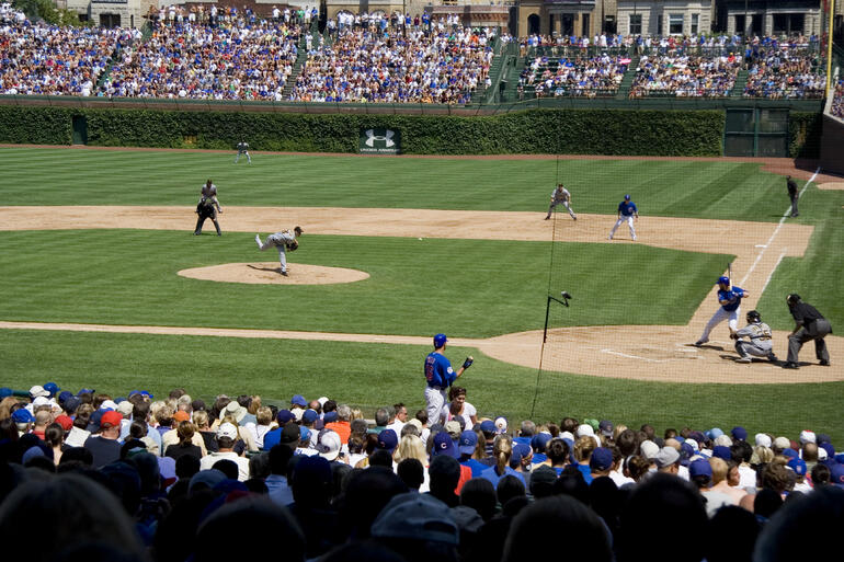 Cubs game at Wrigley field - Chicago