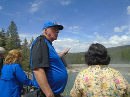 Grant, our tour driver and guide was extraordinarily hospitable, patient, and knowledgeable. He had a wealth of knowledge about Yellowstone and the Grand Tetons: Their topography, history, wildlife ... , Lorraine B - June 2016