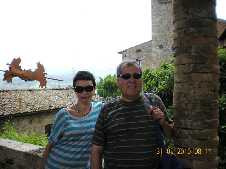 In one of the cozy San Gimignano corners - Florence