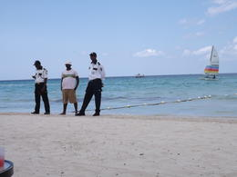 Photo of Montego Bay Negril Sightseeing Tour with Sunset at Rick's Cafe Margaritaville Beach Security
