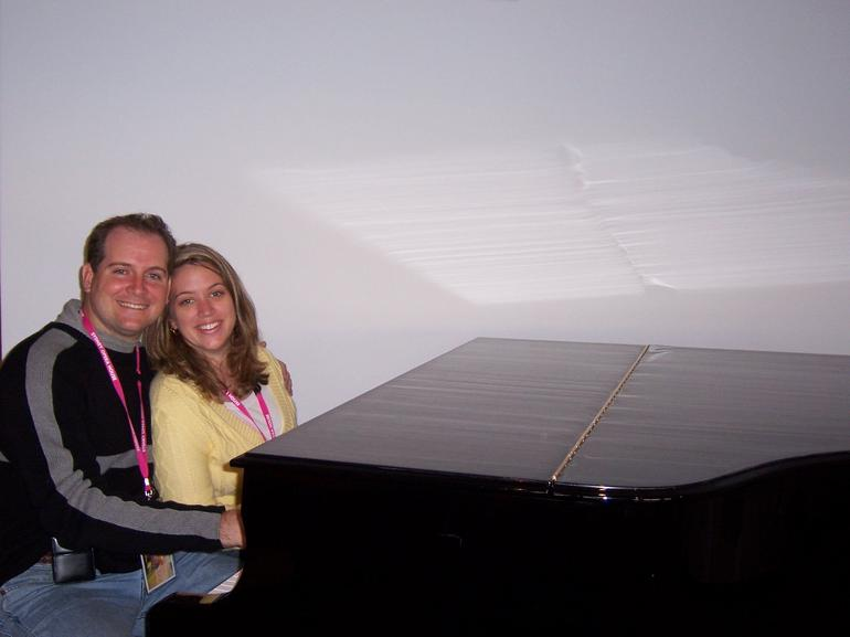 My wife and I at the Sydney Opera House - Sydney