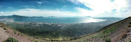 Panoramic view from the top of Vesuvius , Kyle J - May 2014