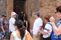 Photo of Rome Pompeii Day Trip from Rome Pompeii guide Willy explaining some of the history to our group