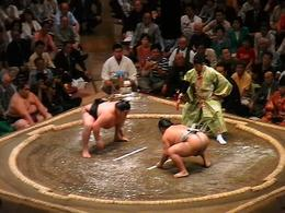 Sumos ready for action - a fantastic sight and must see in Tokyo!, Melanie L - September 2009