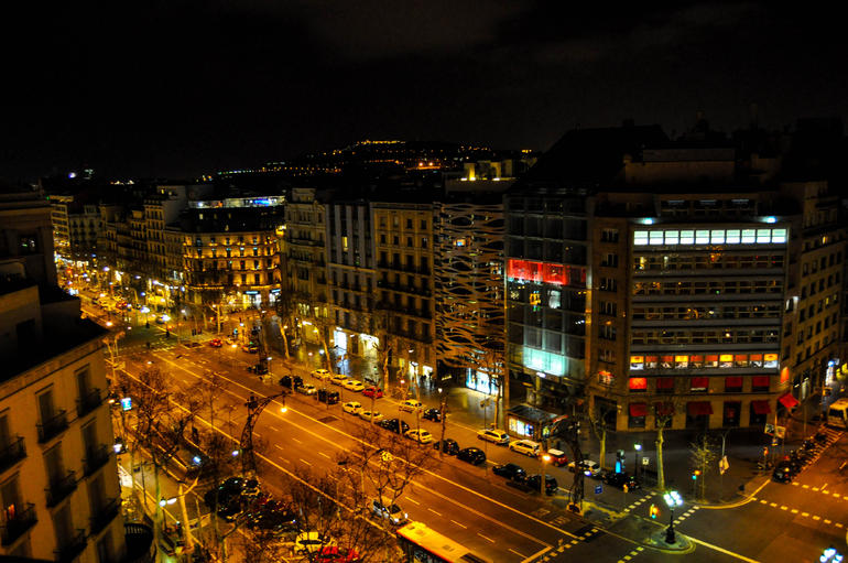 View of the city from the roof of La Pedrera - Barcelona