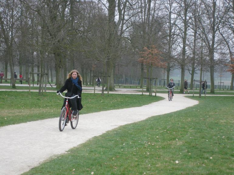Biking Through the Park - Paris